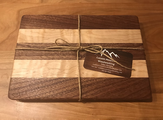 Sapele & Curly Maple Small Cutting Board