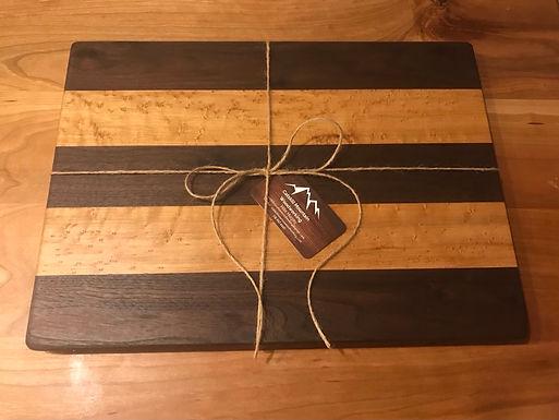 Black Walnut & Bird's Eye Maple Cutting Board