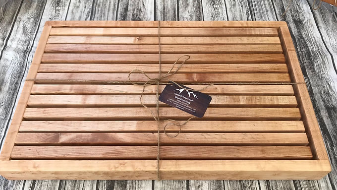 French Style  Bread Cutting Board with Crumb Catcher