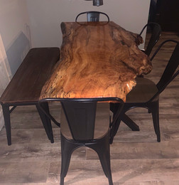 Ciara & Dereck's Live Edge Dining Table