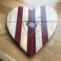 Curly maple & Purple Heart Charcuterie Board