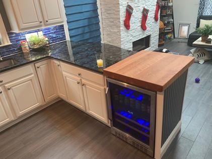 Custom Solid Cherry Butcher Block Counter