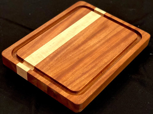 Solid Sapele with Curly Maple Accent