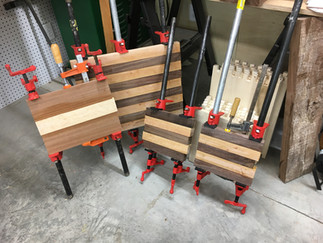 couple of boards glued up and drying