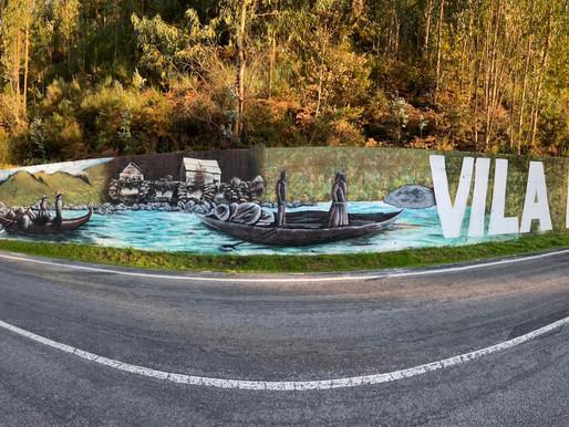 Maior mural de Marco de Canaveses é em Vila Boa do Bispo