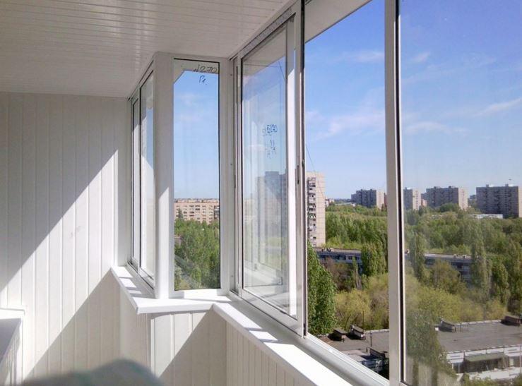 алюминиевое остекление балкона (холодное)