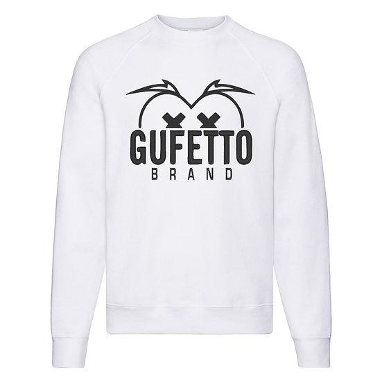 Felpa Classic  Uomo Donna Gufetto Brand Logo Nero Ricamato ( K5630 )