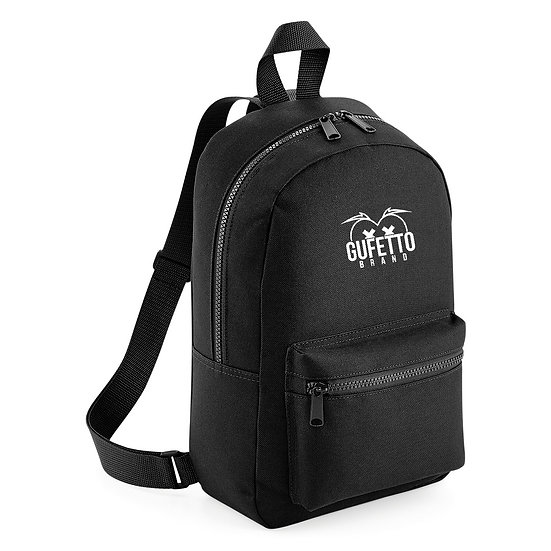 Zaino Essential Fashion Black Gufetto Brand ( con Logo Ricamato )