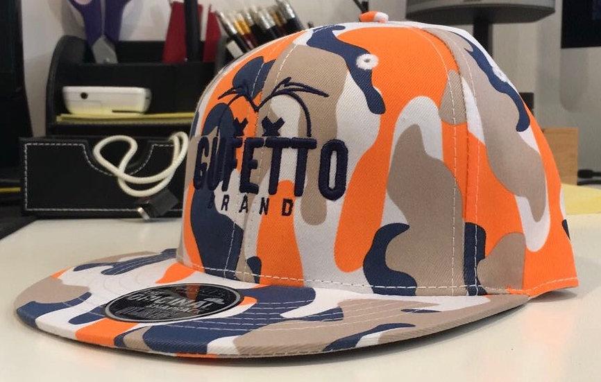 Cappello Gufetto Brand Navy Orange