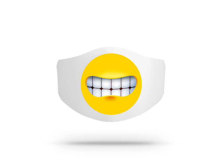Mascherina in cotone Uomo Donna Emoji 8 ( I6219 )
