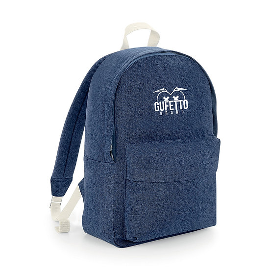 Zaino Denim Blue Gufetto Brand ( con Logo Ricamato )