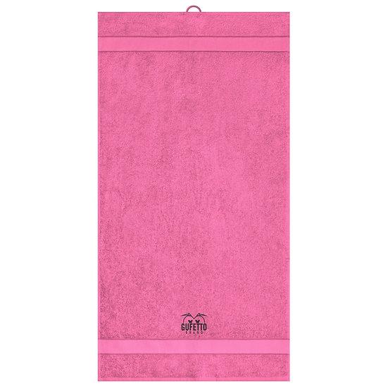 Asciugamano Gufetto Brand Fucsia ( Logo Ricamato )