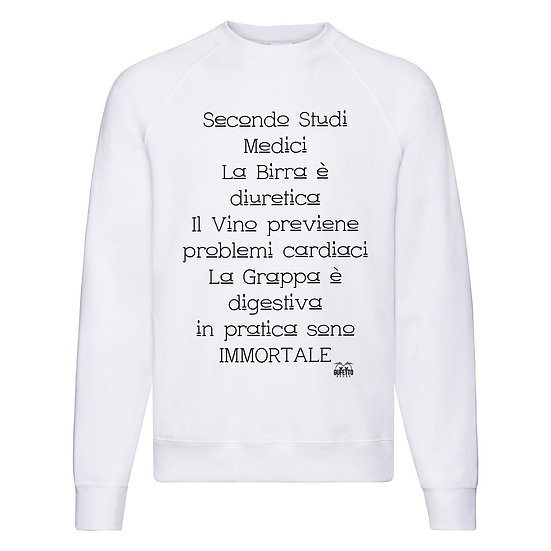 Felpa Classic Uomo Studi Medici ( S48032 )