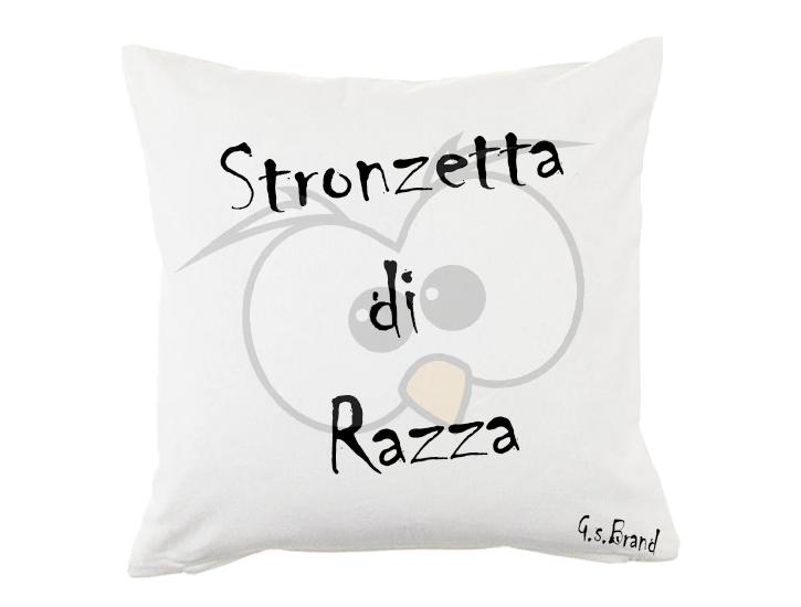 Cuscino Bianco/Viola Stronzetta di Razza