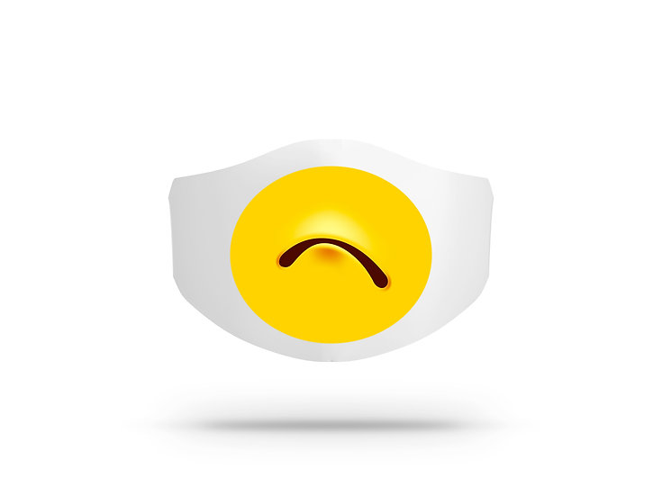 Mascherina in cotone Uomo Donna Emoji 5 ( O8374 )