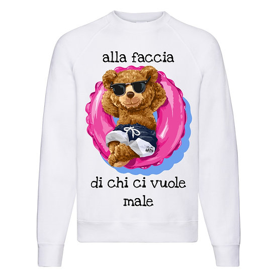 Felpa Classic  Uomo Donna Alla Faccia ( T7842 )