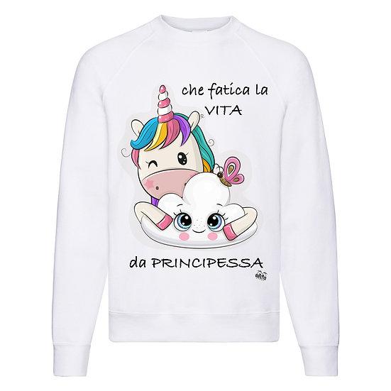 Felpa Classic Donna Principessa Unicorn  ( E922 )