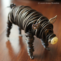 Brown Pig ~ Commission - Sold