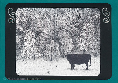 Christmas Cards ~ Cow