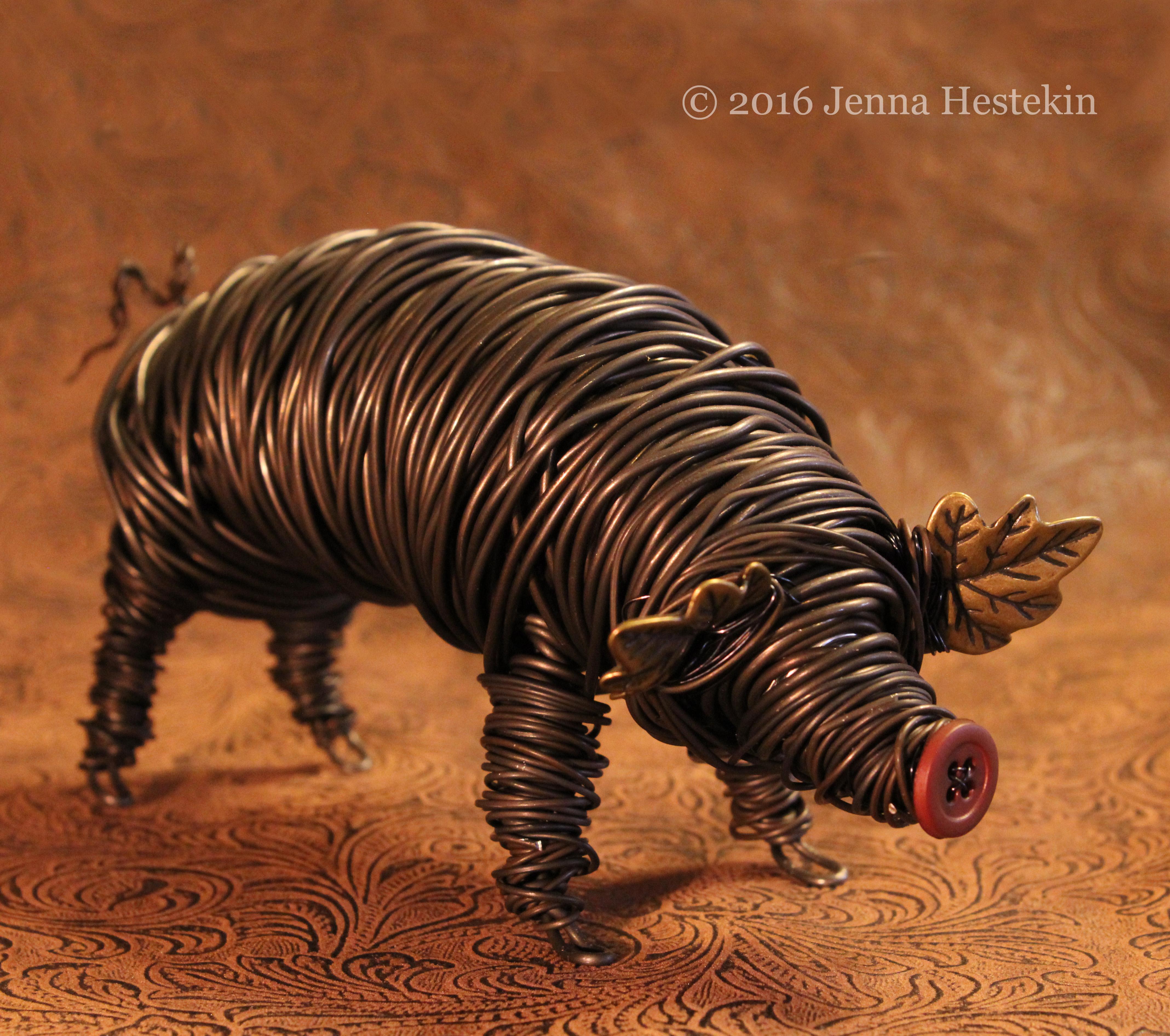Big Brown Pig ~ Sold