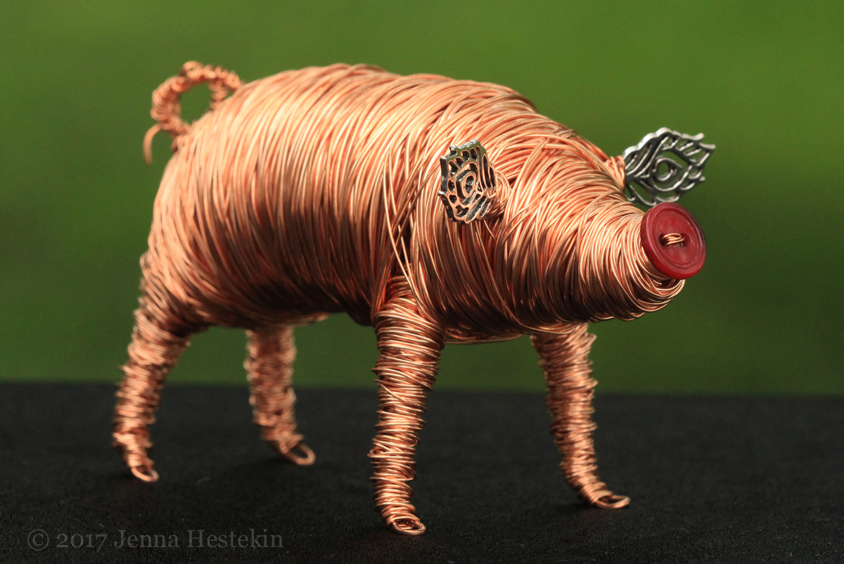 Copper Pig ~ Sold