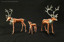 Caribou Family ~ Commission - Sold