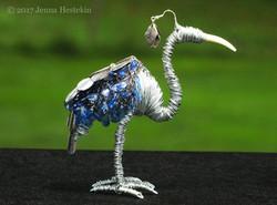 Blue Bead Bird ~ Sold