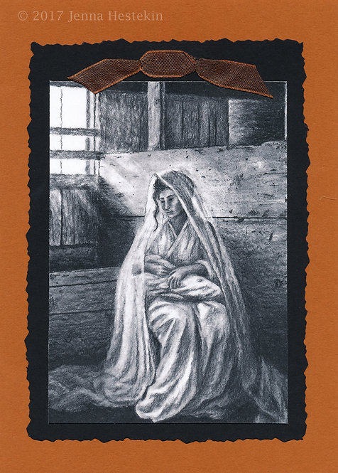 Christmas Cards ~ Mary and Jesus