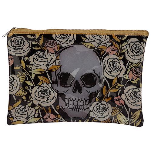 Skull and Roses Make up bag