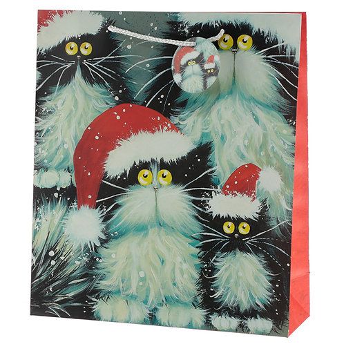 Kim Haskins Christmas Cat Bag XL- Elizabees