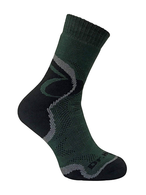 Mens Padded Heel Merino Wool Ankle Hiking Socks
