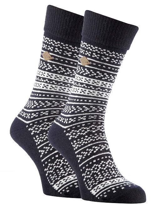 2 Pack Mens Fairisle Formal Dress Socks