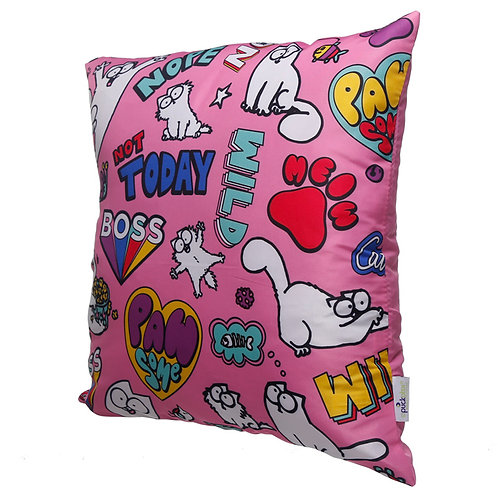 Pink Simon's Cat Pawsome Cushion