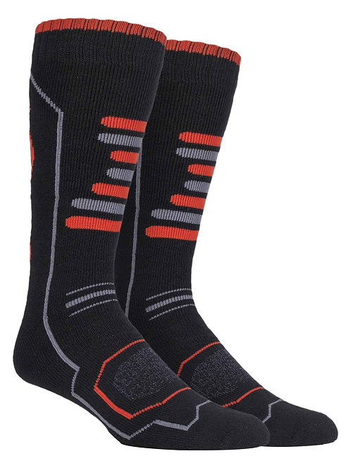 2 Pairs Mens Knee High Ski Socks