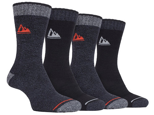 4 Pairs Mens Cushion Sole Hiking Socks