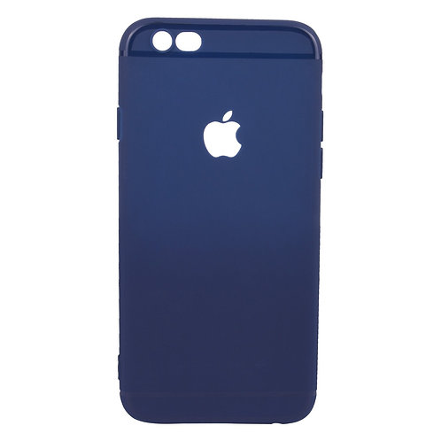 Soft Silicone Slim Logo Cover for iPhone 6/6S (blue)