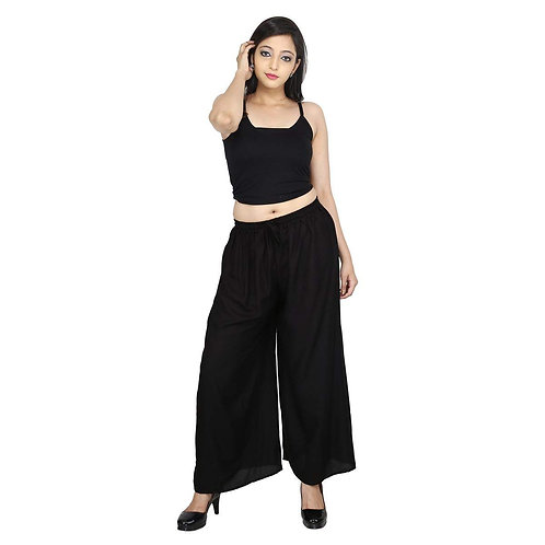 Women Regular Fit Black Girl Palazzo