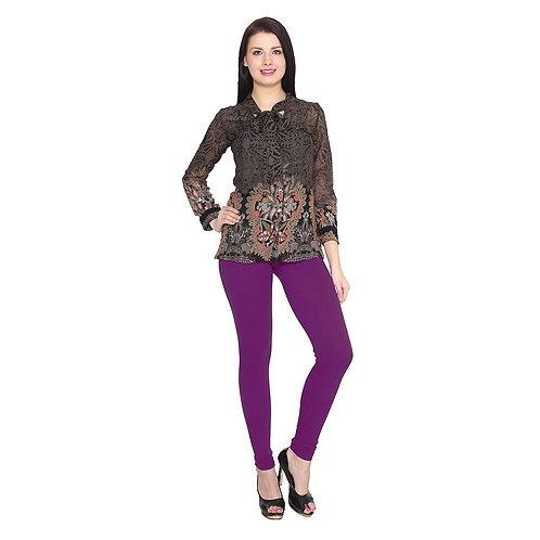 Women's purple Cotton Stylish legging