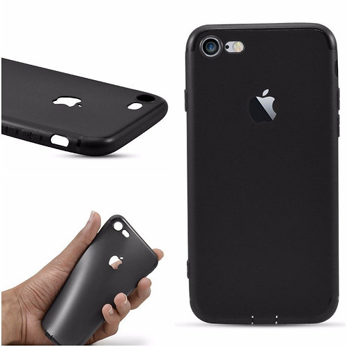 Soft Silicone Slim Logo Cover for iPhone 6/6S (black)
