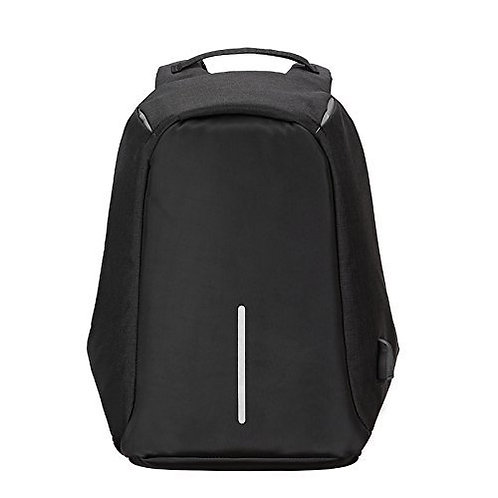 Anti Theft Unisex Laptop Backpack with USB Charging Port black