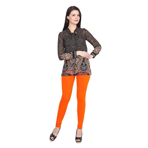 Women's  orange  Cotton Stylish legging
