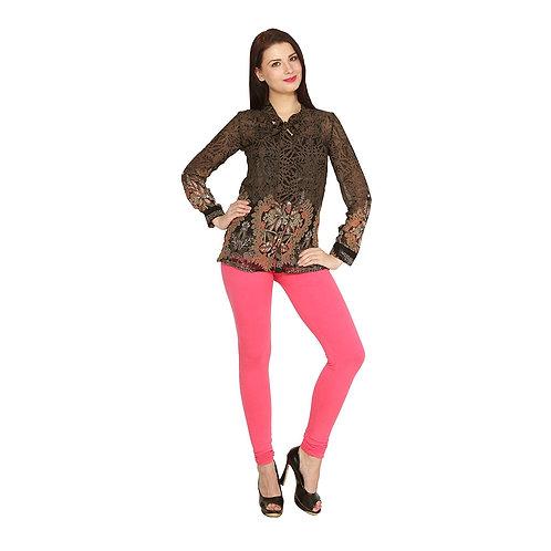 Women's Bubblegum Pink Cotton Stylish legging