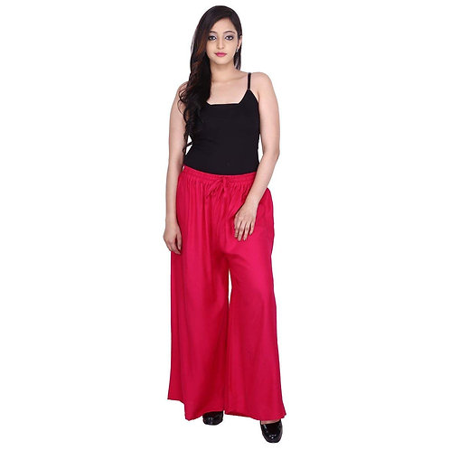Women Regular pink Fit  Girl Palazzo