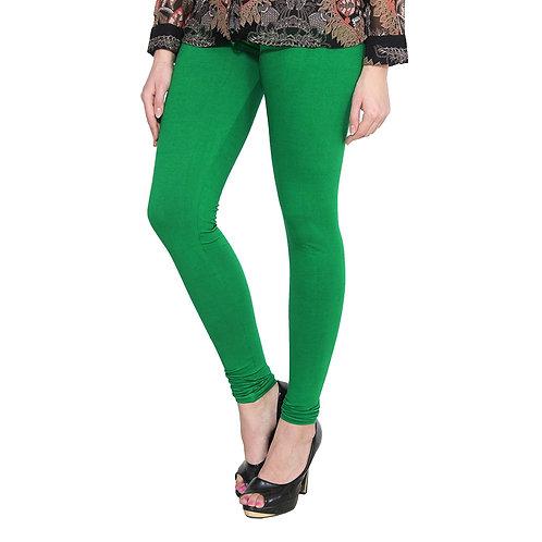 Women's Dark green Cotton Stylish legging