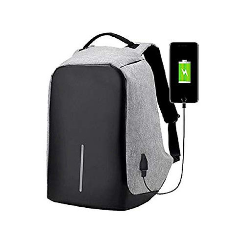Anti Theft Unisex Laptop Backpack with USB Charging Port