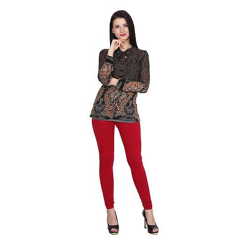 Women's Red Cotton Stylish legging