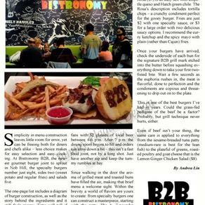 Bistronomy B2B: The Burger to Beat!