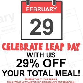 Celebrate Leap Day with 29% OFF