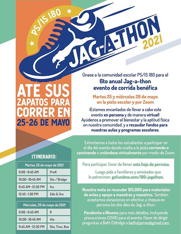 Jagathon Flyer in Spanish