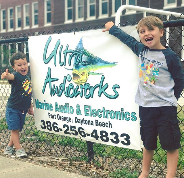Representing at the little mans Elementary school! #teamultraaudioworks #ultraaudioworks #portorange